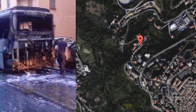 incendio autobus Chieti
