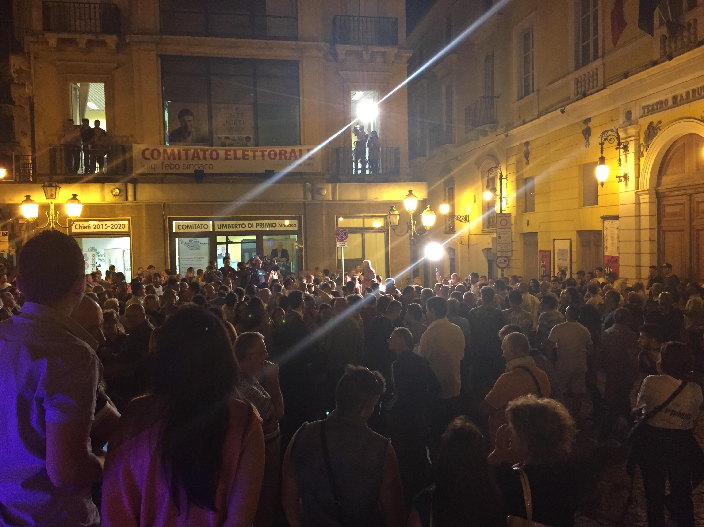 la festa per Di Primio sindaco si anima