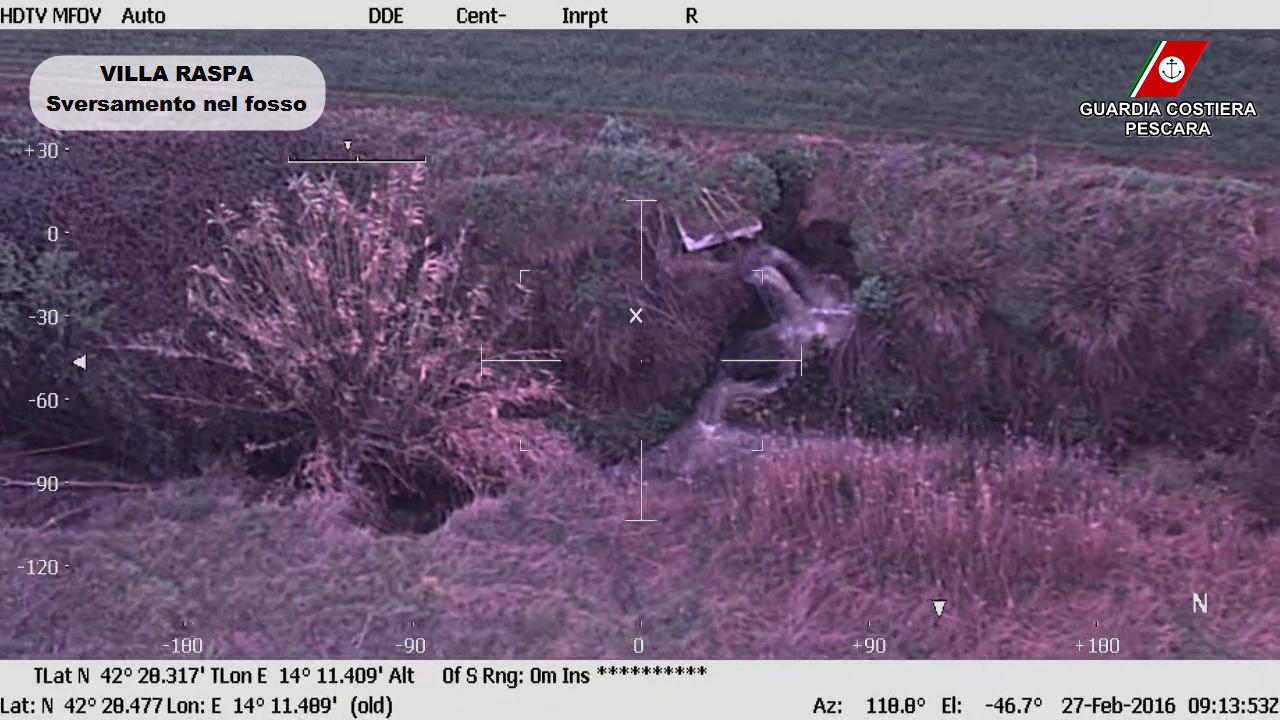 Immagine ottenuta dai sistemi di bordo del velivolo 1