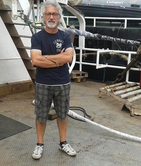 Martinsicuro (Teramo) - il capitano della nave Idra Q., Sandro De Simone