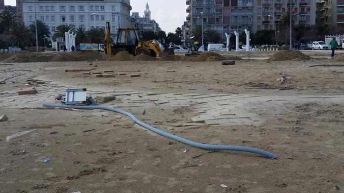Pescara: Stadio del Mare distrutto da mareggiata